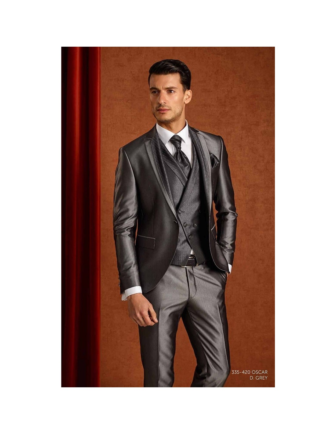 Groom suits Oscar grey - Sedka Novias