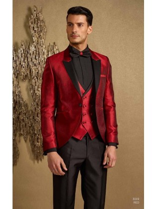 Groom suits 3019 red