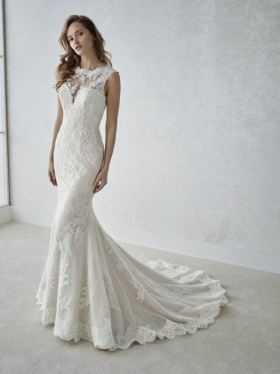 Wedding dress FARENA - WHITE ONE