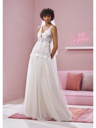 Wedding dress CHAKA - WHITE...