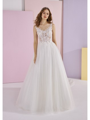 Wedding dress ELLE- WHITE ONE