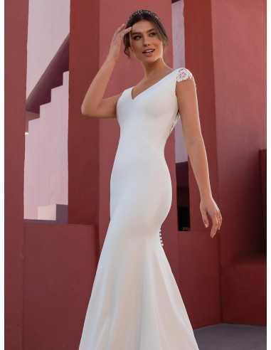 Wedding dress FLOWER - WHITE ONE