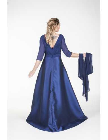Vestidos de fiesta Graciela-Azul