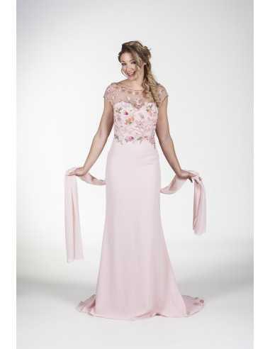 Vestidos de fiesta Grafito-Rosa palo