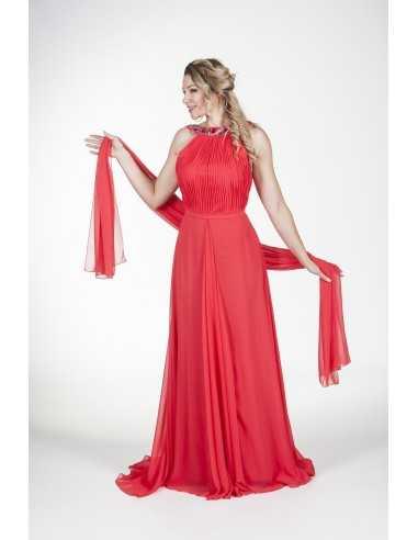 Vestidos de fiesta Grama-Rojo