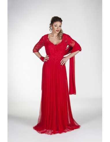 Vestidos de fiesta Gracil-Rojo