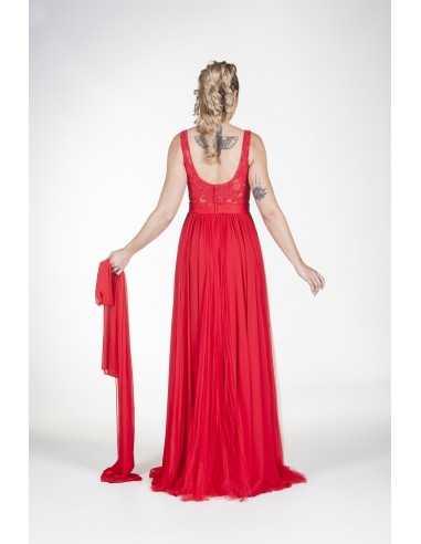 Vestidos de fiesta Germaine-Rojo