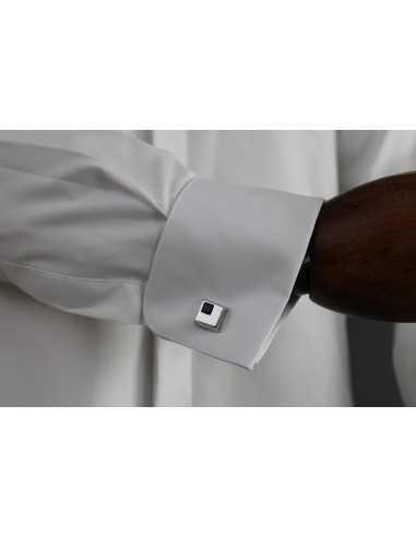 Camisa de novio slim fit de cuello...