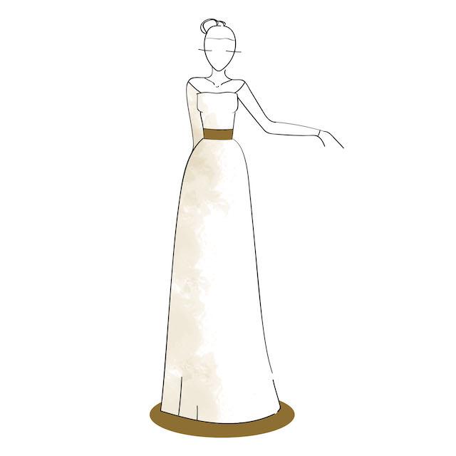 Vestido de Novia Corte Recto