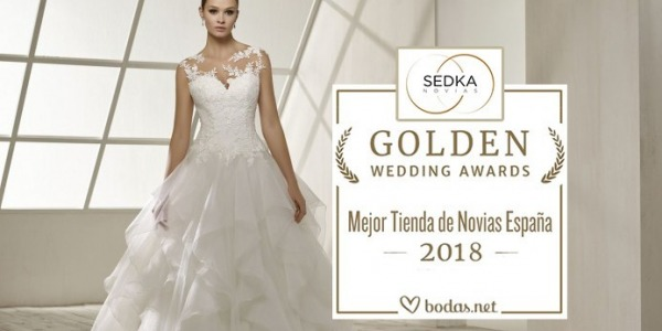 Sedka novias premiada en la 4º edición de los Golden Wedding Awards de Bodas.net